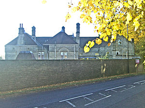 Parkhead Hall - Seen from Ecclesall Road South. The best public view of the hall.