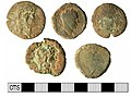 Part of a Roman sesterces coin hoard obverse view (FindID 477845-360716).jpg