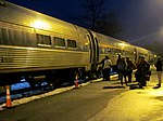 Passengers boarding northbound Vermonter at Brattleboro station, January 2013.JPG