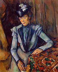 Paul Cézanne: Mujer de azul