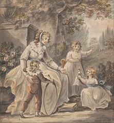 A Nurse with Three Children