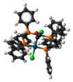 Pd2Cl2(CO)(dppm)2 3D ball.png