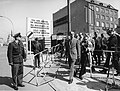 Peace Corps Director Sargent Shriver inspects Checkpoint Charlie during his visit to Berlin on April 26,1964 - 034 490-D-6-003.jpg