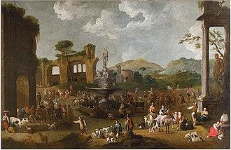 Peeter van Bredael - A Market In Italy