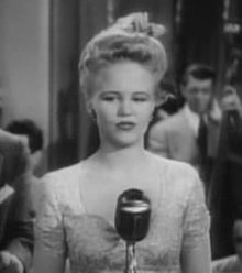 Peggy Lee in the 1943 film Stage Door Canteen.