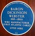 Penns Hall 08 - Baron Dickinson Webster blue plaque.JPG