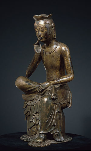 Gilt-bronze Maitreya in Meditation (National Treasure No. 83)