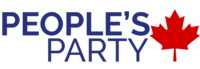 "Former logo of the People's Party of Canada with the shortened name ""People's Party"" and a maple leaf on its right."