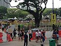 People queueing at the Padang to pay respects to Lee Kuan Yew lying in state in Parliament House, Singapore - 20150327-01.jpg