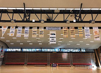 State Basketball League - The Hawks' 12 SBL championship banners (July 2018)