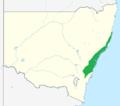 Persoonia lanceolata range.png
