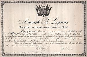 Augusto B. Leguía - Image: Perucent