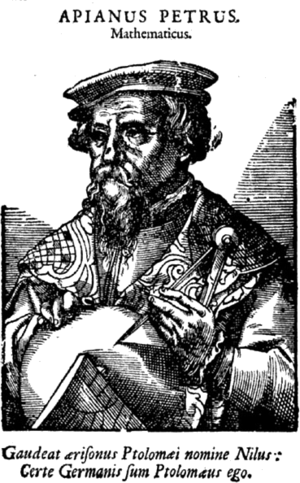 Petrus Apianus - Apianus on an 18th-century engraving