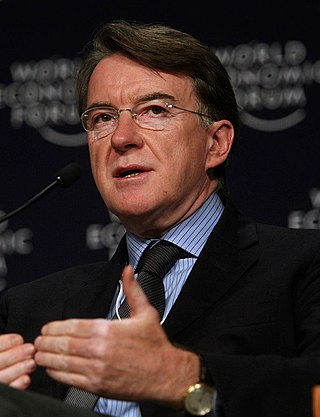 Peter Mandelson British Labour politician