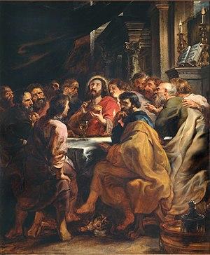 Last Supper (Rubens) - Image: Peter Paul Rubens Last Supper WGA20255