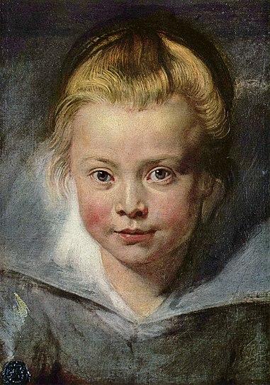 Портрет Клары Серены Рубенс. холст, масло. 37 × 27 см. Вадуц, Лихтенштейнская галерея