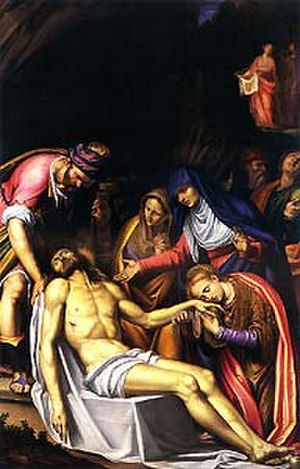 Simone Peterzano - Deposition of Christ, church of San Fedele, Milan