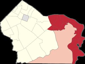 Legislative districts of Makati - Location of 2nd District of Makati