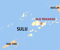 Map o Sulu showin the location ofOld Panamao