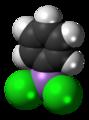 Phenyldichloroarsine molecule spacefill.png