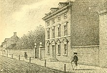 Engraving of President Washington's House in Philadelphia, his residence from 1790 to 1797