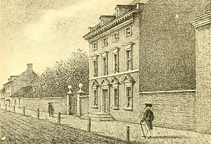 Philadelphia - President's House - the presidential mansion of George Washington and John Adams, 1790–1800