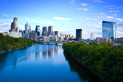 Philadelphia, the second most populous city in the Northeast and the fifth most populated city in the United States Philly skyline.jpg