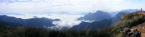 "Phu Chi Fa - The ""sea of mist"" seen from Phu Chi Fa"