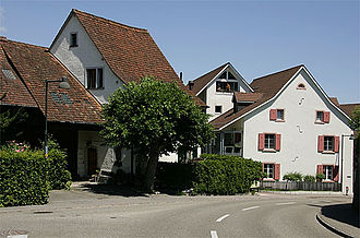 Oberwil, Basel-Landschaft - Old houses in the center of Oberwil