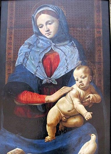 Piero di cosimo, madonna della colomba, 1490 ca. 02.JPG