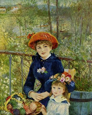 Painting On the Terrasse by Renoir