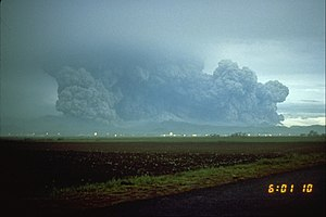 Mount Pinatubo - On June 15, 1991, the eruption plume minutes after the climactic eruption.