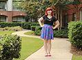 Pink Flat Sandals, Purple Floral Skirt, Black Lace Shirt (21097061446).jpg