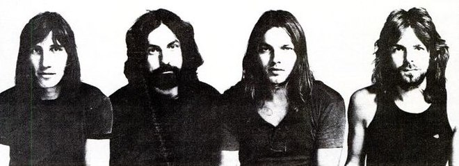 Roger Waters, Nick Mason, David Gilmour and Richard Wright, 1971, Meddle inside cover Pink Floyd, 1971.jpg