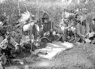 Treaty 6 - Pipe ceremony at Waterhen River, northern Saskatchewan
