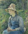 Pissaro - Jeune paysanne au chapeau de paille 1881.jpg