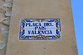 Plaça del País Valencià, Sagra - placa.JPG