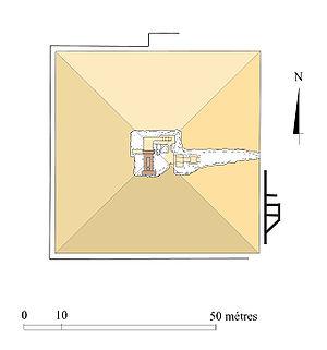 Pyramid of Ameny Qemau - Image: Plan complexe ameni kemaou copie