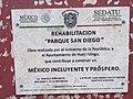 Plaque in San Diego Park in Huejotzingo.jpg
