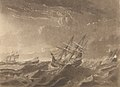 Plate IV. A View of the Sea on the Morning after the Storm, with the distressed situation of the Centaur, Ville de Paris and the Glorieux as seen from the Lady Juliana, the Ville de Paris passing to Windward under RMG PY8434 (cropped).jpg