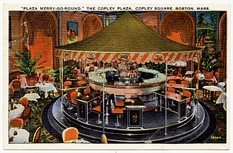 The Fairmont Copley Plaza Hotel - From approximately 1930–1945, this circular bar was located at the Copley Plaza.