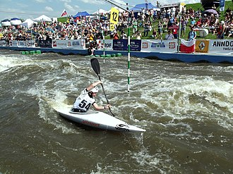 Kraków-Kolna Canoe Slalom Course - Image: Podczas zawodów (9215007304)