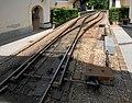 Poestlingbergbahn Schleppweiche Bergstation 2005-06-28.jpg