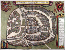 Polish plan of Moscow 1610