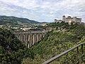 Ponte delle torri e Rocca visti dal Giro dei condotti.jpg