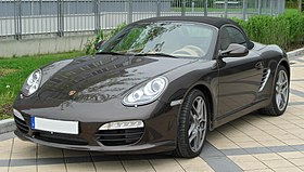 Photo du Boxster S (Type 987, phase 2) de face.