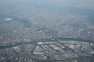 Gennevilliers - An aerial view of the Port of Gennevilliers