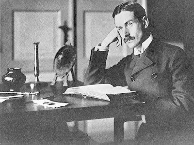 Portraetaufnahme von Thomas Mann 1905