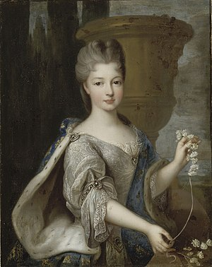 Louis Armand II, Prince of Conti - Louise Élisabeth, his wife by Pierre Gobert.