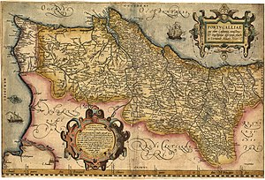 Kingdom of the Algarve - A map from 1561, showing the distinction between the Kingdom of Portugal and the Kingdom of the Algarve.